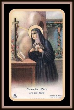 Patron Saint of Desperate Causes. Rita is well-known as a patron of the Impossible.