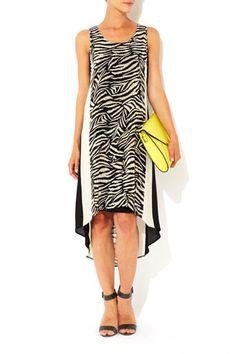 Animal Print High Low Dress