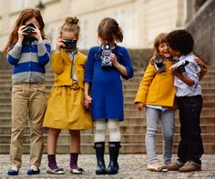 . kiss, kids clothes, j crew, colors, kids fashion, children, yellow, kid styles, cameras