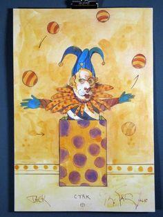 """ntiago """"Jack Cyrk"""" Estate Stamped Art Print '95"""