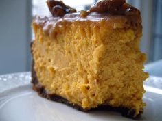 Pumpkin Cheesecake Recipe from The Healthy Kitchen