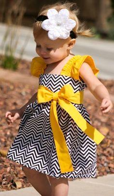 An adorable chevron dress