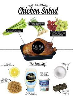 The Ultimate Chicken Salad recipe (could substitute craisins for grapes for easier prep)
