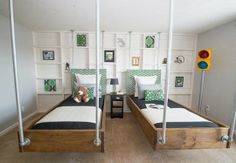 indianapoli, charm, child room, kid bedrooms, hanging beds