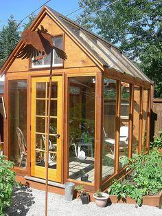 Small backyard greenhouse/conservatory