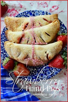 Strawberry hand pies. Easy and delicious. A must make recipe stonegableblog.com