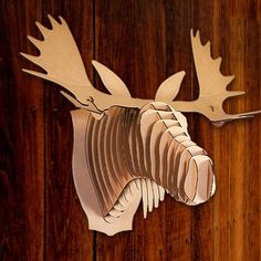 Crafty craft ideas on pinterest - Cardboard moosehead ...