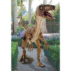 Velociraptor, Jurassic-sized Dinosaur Statue by Design Toscano,     I NEED THIS IN MY LIFE.