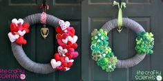 decor, holiday, craft, st patti, interchang wreath, st patrick, diy, wreaths, stpatrick