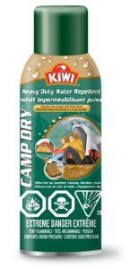 Great idea when your favorite boot doesn't come in a waterproof model.  Kiwi Camp Dry, Heavy Duty Water Repellent, 12oz - $9