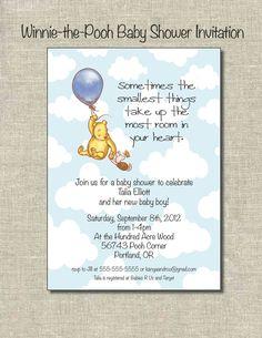 Winnie-the-Pooh Baby Shower Invitation.