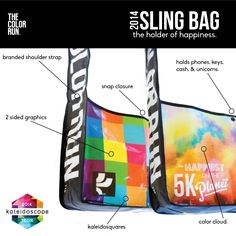 Wahoo! Every registered runner in 2014 gets a sling bag at check in! TheColorRun.com