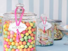 apothecary jars, baby shower ideas, baby shower foods, jar labels, candi jar, candy jars, parti, candi bar, baby showers