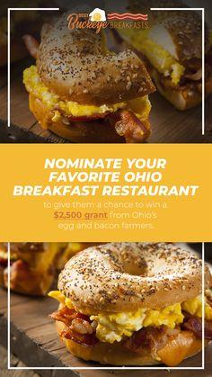 提名你最喜欢的俄亥俄早餐餐厅,让他们有机会赢得2美元,娱乐网址网站和熏肉农民给了500美元.