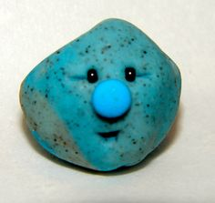 BLUE RAINBOW Edition Polymer Clay Pet RocK by KatersAcres on Etsy - Fun for children & adults of all ages!
