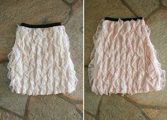 turn ruffle fabric vertical to make these cute ruffle skirts! Skirt Tutori, Ruffl Skirt, Sew, Craft, Cloth, Skirts, Diy Ruffl, Vertic Ruffl, Ruffles