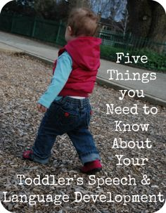 Five Things You Need to Know About Your Child's Speech and Language Development. A guest post by Katie from playing with words 365 at Love, Play, Learn.