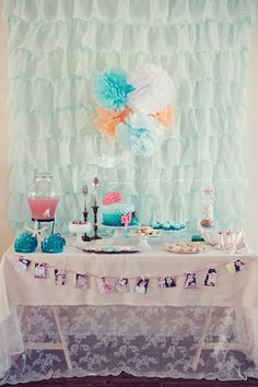 Ariel-inspired mermaid party: Halle is 7! (contains link to how to make sea glass candy)