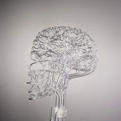 """Heart of Glass""- Anatomical glass sculpture by Gary Farlow"
