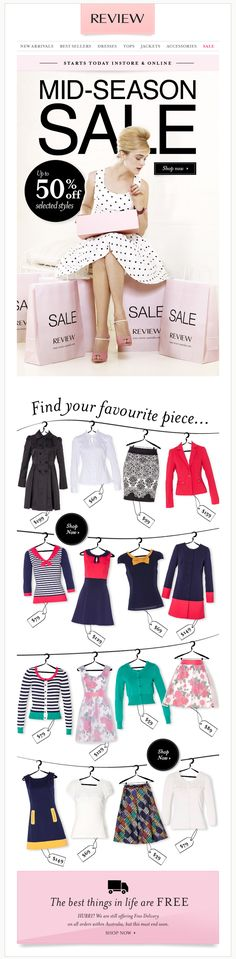review-australia.com | Weekly eDM/newsletter design by Hollie Bracewell, via Behance