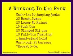 Workout in the Park Circuit