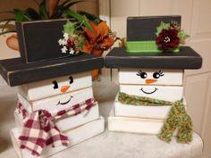 Wood Snowmen