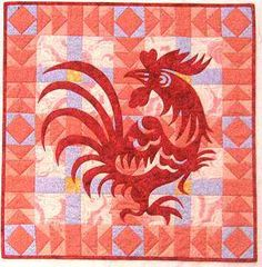 quilt design, beauti rooster, rooster quilt