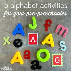 5 ABC Activities for your Pre-Schooler- fun ways to introduce letters that they will enjoy doing!