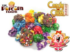 """#candycrush #popcorn from """"The Popcorn Fanatic""""  Put down your phone and get your fix on.  facebook.com/popcornfanatic popcorn fanat, candycrush popcorn"""