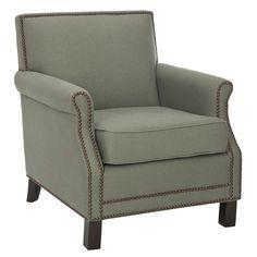 Evan Arm Chair - loving the nailheads