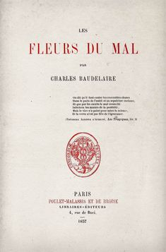 Fleur du Mal, Baudelaire