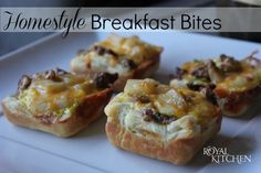 Homestyle Breakfast Bites  Just freeze and reheat for quick and easy meals.