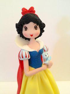 *COLD PORCELAIN ~ Princess Inspired Cold Porcelain Snow White  Cake Topper or Decoration