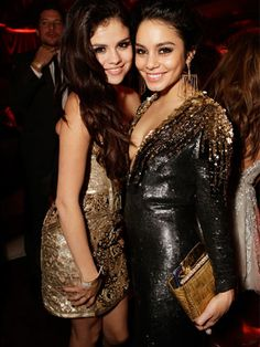 Selena Gomez and Vanessa Hudgens bonded over their onetime Disney stardom and, apparently, love for gold embellishments. In this shot, the two could even be sisters!