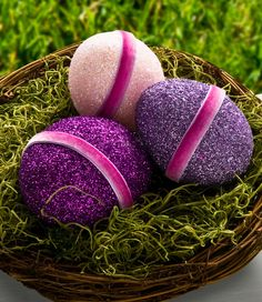 Give your next Easter egg hunt a little extra sparkle with these glittered Easter eggs with Mod Podge!