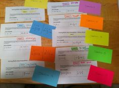 Math station idea for upper level - love this blog of great ideas for lesson plans of group work!