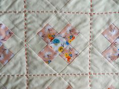 Love the pearl cotton quilting thread - Molly Flanders Makerie