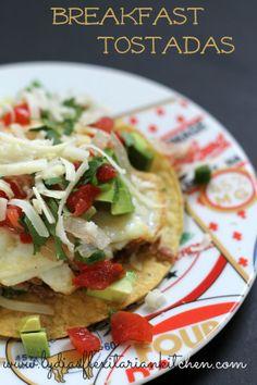 Breakfast Tostadas - Lydia's Flexitarian Kitchen