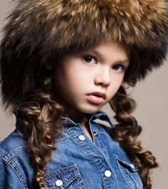 children of the world  A little model from Russia