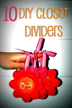 10 DIY Closet Dividers for baby clothes...my mom did this for me using padded hangers!