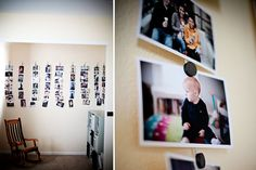 this one is easy to change out anytime. Just use wire and magnets and hang your photos