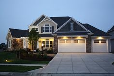Traditional style shingle home with craftsman touches.  Plan 20-2134.
