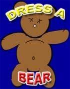 Dress the Bear dress up game for preschool children online.