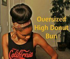 straight hair, overs bun, natur hair, donut bun, how to hair extensions