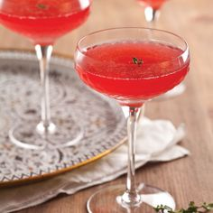 Raspberry Thyme Sparkler