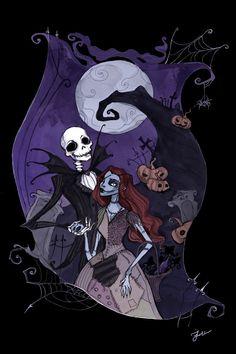 Jack and Sally by IrenHorrors on deviantART