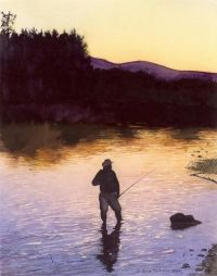Early morning- Diane Michelin   #flyfishing #fly #fishing