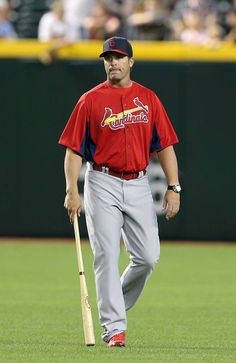 Manager Mike Matheny before the Opening Day game.  4-01-13