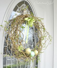 curly willow spring wreath