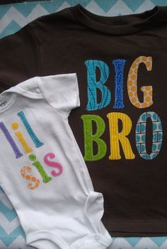 Big Brother Little Sister sibling shirts by PatchesandPuppies, $36.95  Matching big brother and little brother shirts